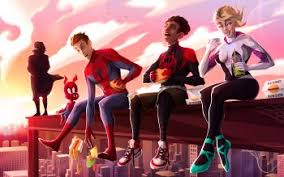 Spiderman and spider gwen pleaseeee (into the spiderverse version). 395 Spider Man Into The Spider Verse Hd Wallpapers Background Images Wallpaper Abyss Page 2