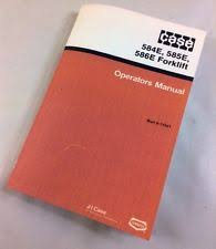 case forklift j i case 584e 585e 586e forklift operators owners manual lift tractor 9 11041