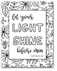 Let Your Light Shine Lds Primary Let Your Light Shine Coloring Page Inspirational Christian