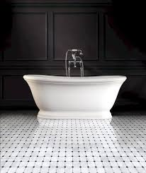 bathroom mosaic tile floor marble white