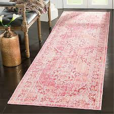 bungalow rose chauncey cotton fuchsia area rug