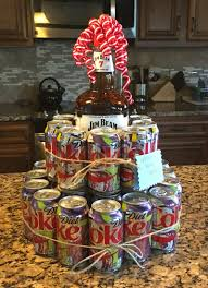 jim beam cake i made for a wele home gift