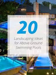 above ground swimming pool ideas. Wonderful Swimming Landscape Above Pool And Above Ground Swimming Pool Ideas T