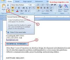 Office Word Format Microsoft Word Home Tab It Computer Training