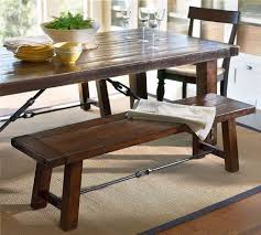 ... Dining Tables, Cool Brown Rectangle Rustic Wooden Dining Room Table  Bench Stained Design: unique ...