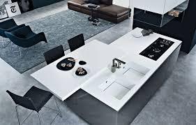 Corian Designer White Thickness Twelve In Steel Worktop In Dupont Corian Glacier White