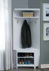 Boot Bench With Coat Rack Stunning 32 Weatherly Collection White Finish Wood Corner Design Mud Room