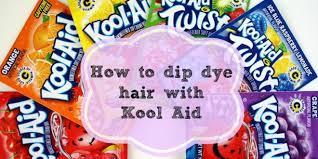 Kool Aid Hair Dye Chart For Dark Hair How To Dip Dye Hair With Kool Aid