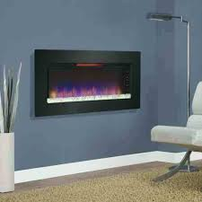 fireplace on the wall