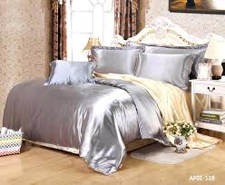 gray silver bedding sets light gray comforter set new bedding set silk like solid shiny silver