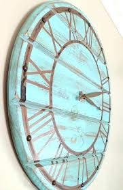 blue wall clocks blue wall clocks inch giant wall clock wooden wall clock by duck egg