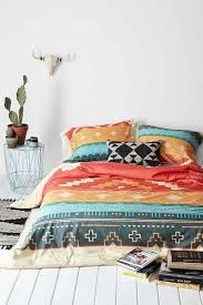 curtis jinkins for deny southwestern plains duvet cover red twin