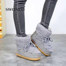 <b>SWONCO Winter Shoes</b> Women <b>Snow Boots</b> Ankle High Top 2019 ...