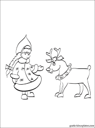 Kerst Rendier Kleurplaat Voor Kinderen Gratis Kleurplaten