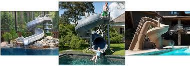 backyard pool with slides. Giant Pool Slides Backyard With O