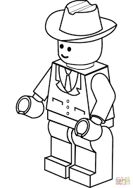 Small Picture Lego Man in Cowboy Hat coloring page Free Printable Coloring Pages