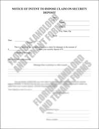 Use A Notice Of Intent To Impose Claim On Security Deposit Form