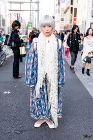 full article for this photo harajuku makeup artist w short silver hair muji uniqlo
