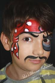 pirate boys face painting by let s bounce inflatables vancouver face painters letsbounceinflatables