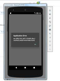 Application Error: index.html not found in android asset - ionic-v3 ...