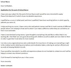 School Nurse Cover Letter Example Icover Org Uk