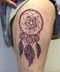 Dream Catcher Tattoo On Thigh 100 Gorgeous Dreamcatcher Tattoos Done Right TattooBlend 94