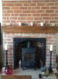 rustic oak mantel shelf design