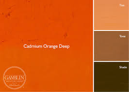 Shades of orange paint Yellow Cadmium Orange Deep Regular Chromatic Step Between Cadmium Orange And Cadmium Red Light The Color Of Day Lilies In Late Summer Chemically Pure Graf1xcom Artist Grade Oil Colors Gamblin Artists Colors