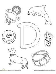 Small Picture Letter D Coloring Page Animal alphabet Worksheets and Animal