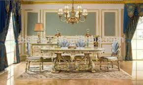 oval kitchen table set. Elegant Hand Painted Oval Dinner Table \u0026 Chairs,Royal Furniture Dinning Room Set,Luxury Kitchen Set A