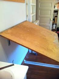 wall desk plans table mounted away inside make hinged exciting fold