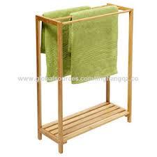 china freestanding bathroom corner standing bath folding stand wood bamboo ladder towel rack