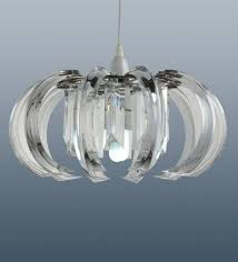 modern clarence acrylic ceiling light pendant lamp shade chandelier new