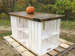 kitchen island or table made from upcycled recycled wooden crates would b cool in