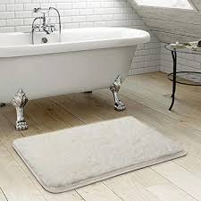 gy bathroom rug uphome microfiber non slip soft absorbent foam mat bath runner bathroom