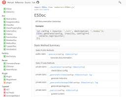 ESDoc - A Good Documentation Generator for JavaScript | esdoc-site