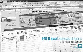 Cable Rating Chart South Africa Electrical Ms Excel Spreadsheets