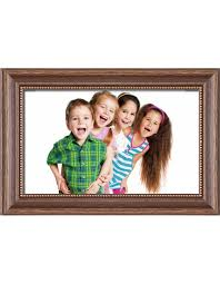 wooden frame h390 brown 10x13 cm anti reflective glass