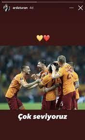 Son dakika spor haberi: Arda Turan'dan Galatasaray-Lazio maçı sonrası  paylaşım - Fotomaç