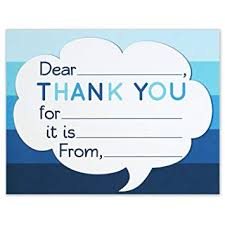 Thank You Note Size Amazon Com Thank You Note Cards Kids Fill In The Blank Style