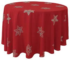 snowy noel embroidered snowflake round tablecloth 70 round