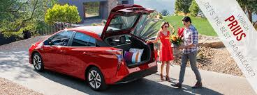 Toyota Prius Comparison Chart Which Prius Gets The Best Gas Mileage