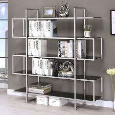 metal and glass bookcase coaster bookcases contemporary metal and glass bookcase coaster fine furniture metal bookshelves with glass doors