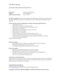 Event Management Job Description Resume Event Coordinator Job Description Resume Resume For Study 40