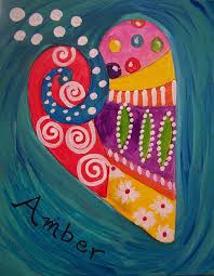 a girl s heart kids painting class at whimsy art studio in san antonio