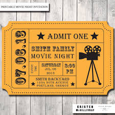 Movie Night Invitation Templates Download Our Sample Of Movie Night Party Invitation Admission Ticket