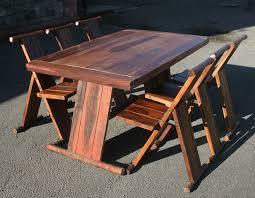 modern set rectangular extending table with 6 folding chair