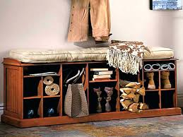 Coat Rack With Seat Metal Entryway Bench With Wood Seat Shoe Coat Rack Storage Hooks 93