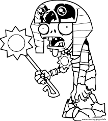 Plants Vs Zombies Free Coloring Pages Egypt Plants Vs Zombies