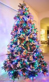 Dazzling Christmas Tree With Colored Lights Artificial 9 6 Foot